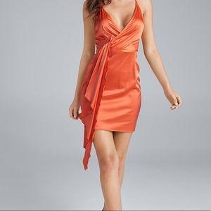 Venus Drape Front Satin Dress with stretch *NEW*
